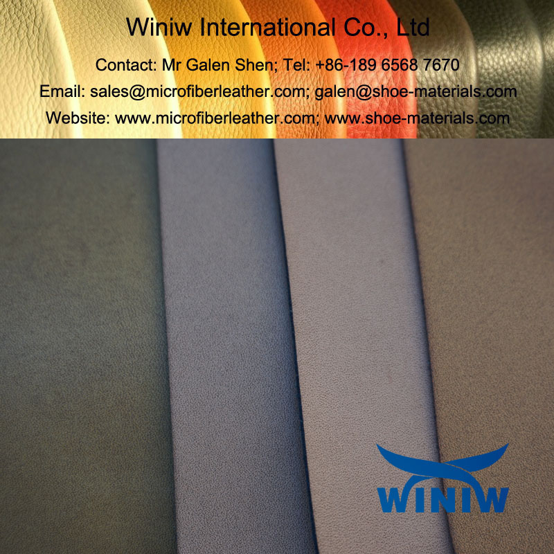 Burnish Microfiber PU Leather for Leather Shoes