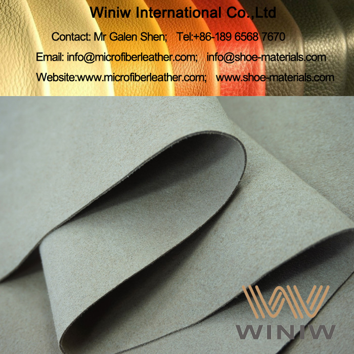 Synthetic Suede Leather Fabric for Boots