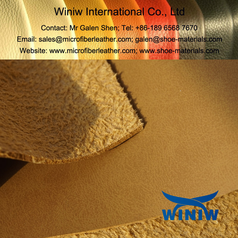 PU Shoe Microfiber Leather