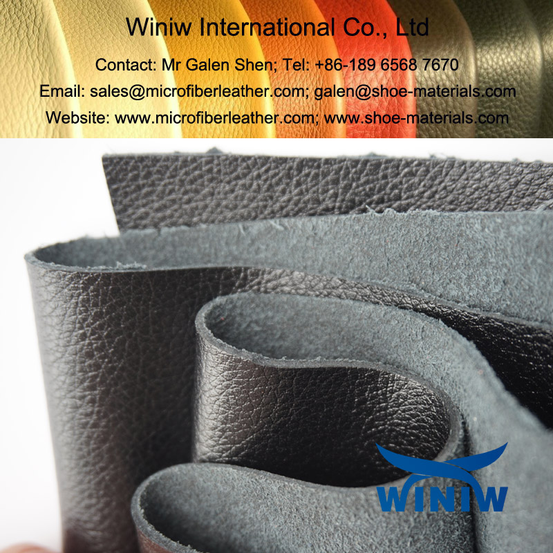 Microfiber PU Leather for Boots