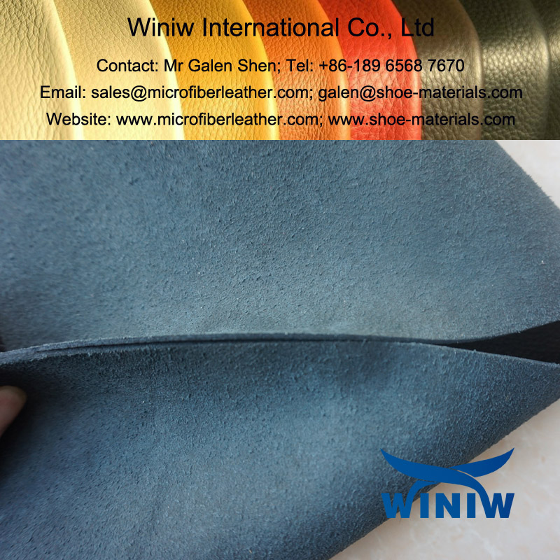Barton Print Microfibre Leather for Safety Shoes