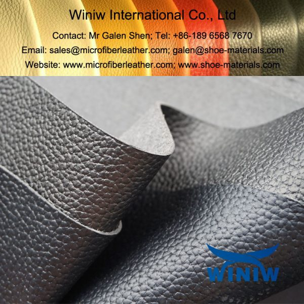 High Performance PU Leather Faux Leather Material for Combat Boots and Army Boots