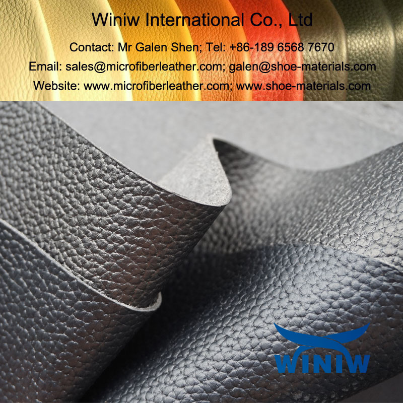PU Leather Faux Leather Material for Combat Boots