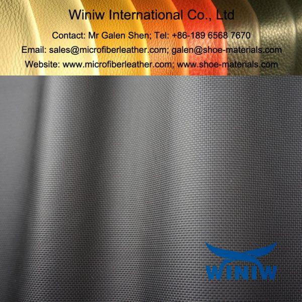 Microfiber for Safety Shoes and Boots, comply to EN ISO20345:2011 standard!  With excellent physical and chemical performance, WINIW microfiber leather has been the best substitute of leather upper for safety shoes, work boots, military shoes, outdoor shoes, etc.   WINIW Microfiber for Safety Shoes & Boots can comply to below requirements required by EN ISO20345:2011 standard for safety shoes! 1. Tear strength at least 60N. 2. Water vapour permeability min 0.8mg/(cm2.h). 3. Water vapour coefficient min min 15mg/cm2. 4. Water absorption max 30%. 5. Water penetration max 0.2g.      Specification of WINIW Microfiber for Safety Shoes & Boots: Thickness: 1.4mm, 1.6mm, 1.8mm, 2.0mm, 2.2mm Width: 1.37m Color: Black, White, Dark Grey, Customized Grain: We have a lot grain for customers choice, also Customized.  Finish: PU microfiber leather, microfiber suede leather, microfiber nubuck leather, etc.   We can make water resistant, oil repellent, anti-static, according to customers requirements.     Features of WINIW Microfiber for Safety Shoes & Boots: 1. Excellent physical strength, better than leather upper. 2. Excellent chemical properties. 3. Light weight. 4. High usage ratio. 5. Eco-friendly. 6. Cost-effective.      Detailed pictures of WINIW Microfiber for safety shoes & Boots: