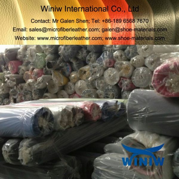 Non Woven Backing PU Leather Stock Lot