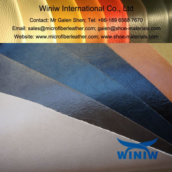 Waxy PU Microfiber Leather for Leather Shoes